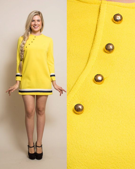 Long sleeve mini dress pinterest yellow.