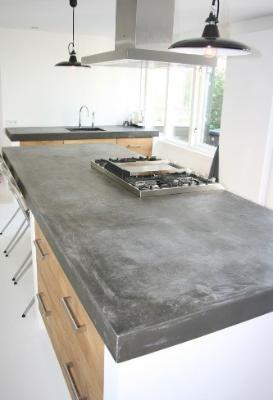 Cuisine Recouvrir Un Plan De Travail De Zinc Keukenstijl Gerenoveerde Keuken Keuken Kast