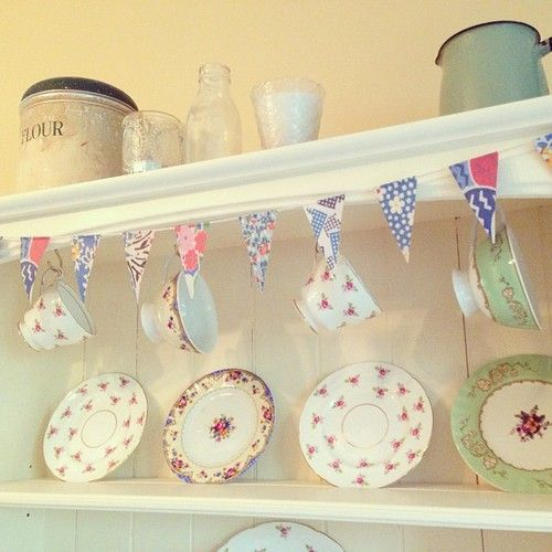 chintz teacups and saucers