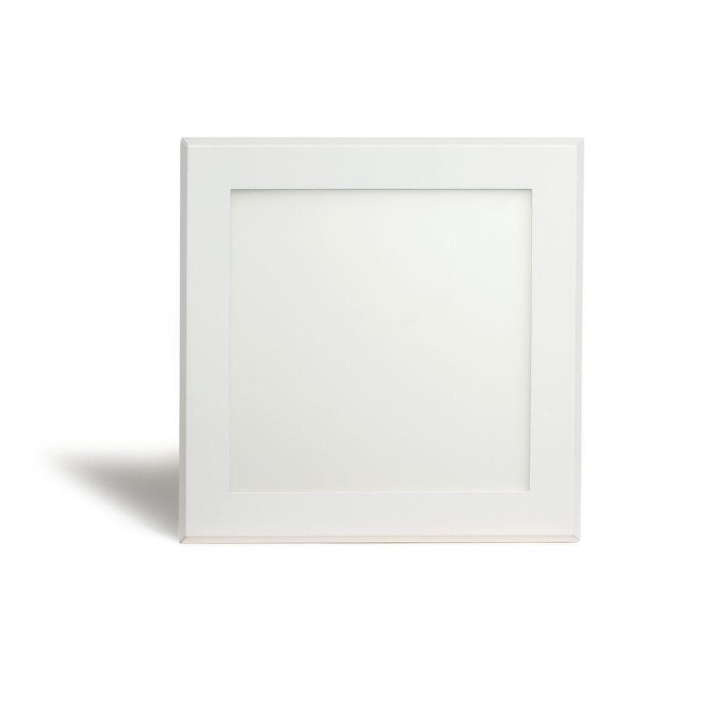 Pixi 1 Ft X 1 Ft White Led Edge Lit Flat Light Surface Mount White Lead Led Can Lights