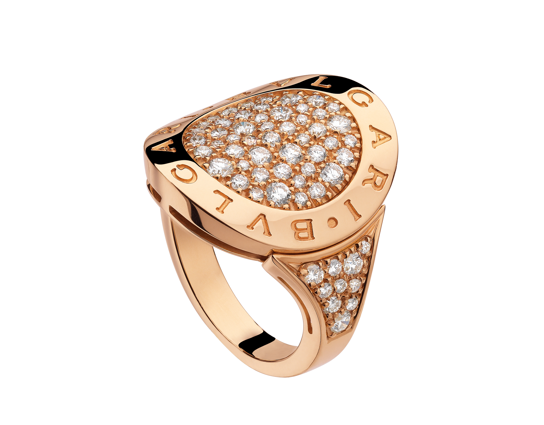 bvlgari bvlgari rose gold diamond ring an854862 discover italian jewelry and other luxury goods