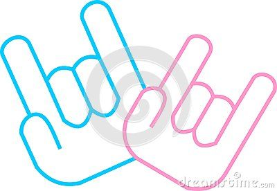 Download I love you sign language hand vector   Royalty Free Stock ...