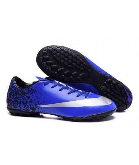 Nike Mercurial Victory V Cr7 Tf Fussballschuhe Blau Schwarz