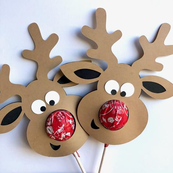 Rudolph the Red-Nosed Reindeer Lollipop .SVG and PDF File | Etsy