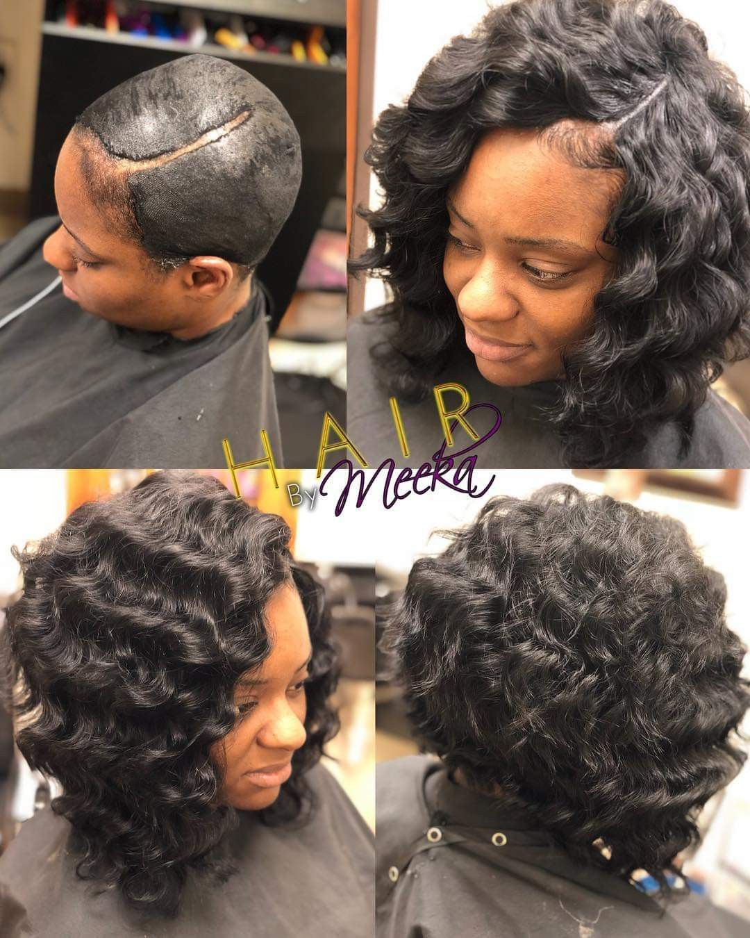 Pin By Teresa Sims On My Style Quick Weave Curly Short Wavy Hair Medium Hair Styles
