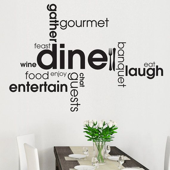 Kitchen  Dining Wall Sticker Word Cloud Word Montage by wallgenie
