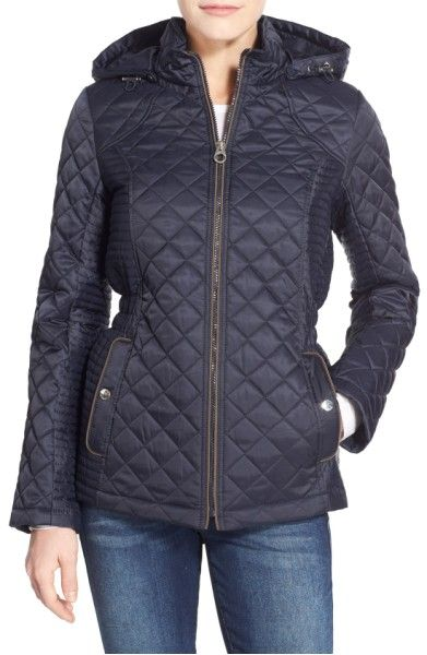 Main Image Laundry By Design Quilted Jacket With Detachable Hood