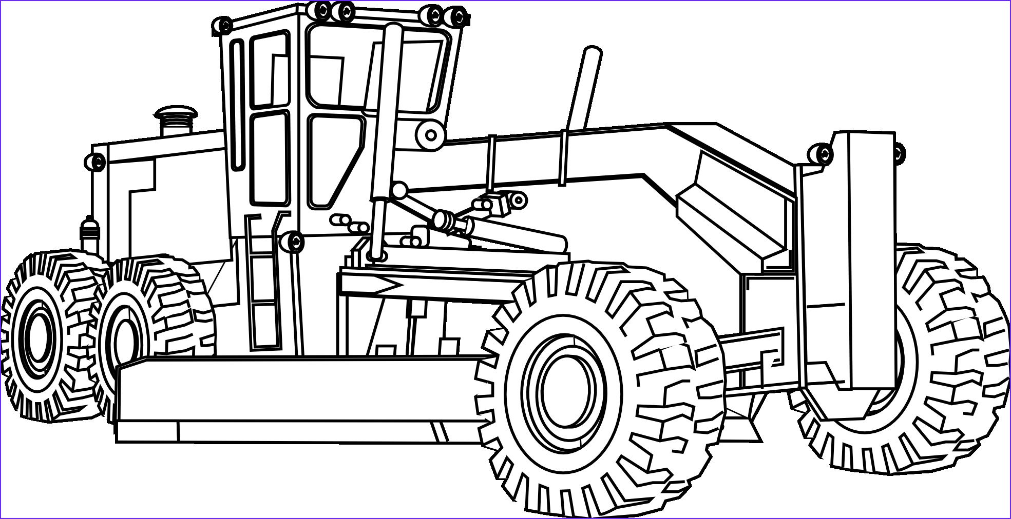 Skid Steer Coloring Page