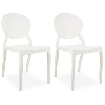 Check out this item at One Kings Lane! White Vasska Side Chairs, Pair