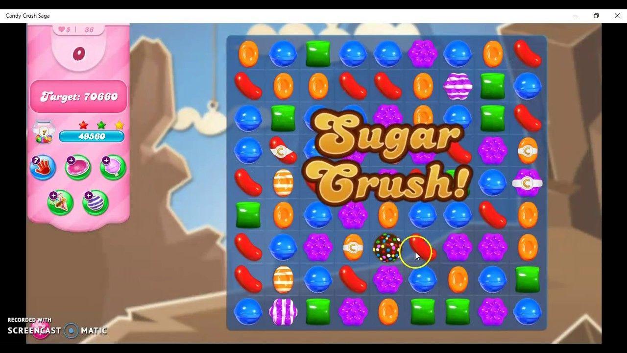 Candy Crush Saga Level 36 No Booster Candy Crush Saga Candy Crush Soda Saga