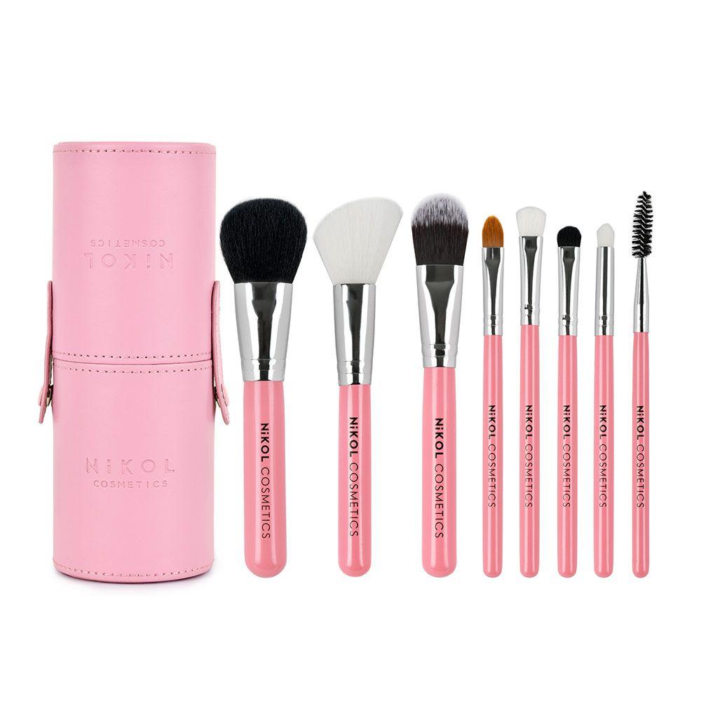 Essential Travel Makeup Brush Set Fresh Beauty Studio In 2020 Makeup Brush Kit Travel Makeup Brushes Essential Makeup Brushes