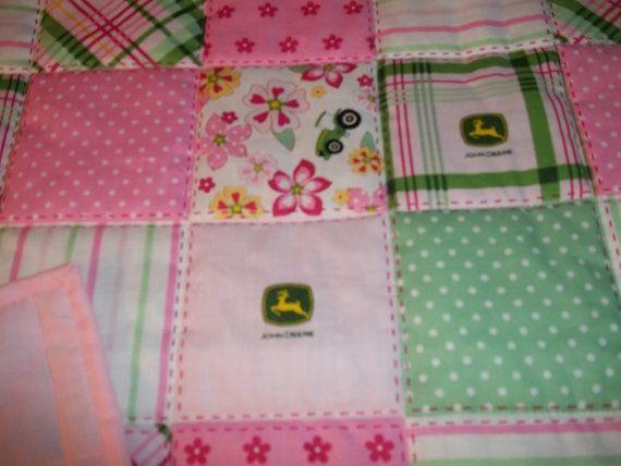 John+Deere+Bedding+Pink/Green+NEW++Girl's++Homemade++Baby+by+kyjan,+$46.00