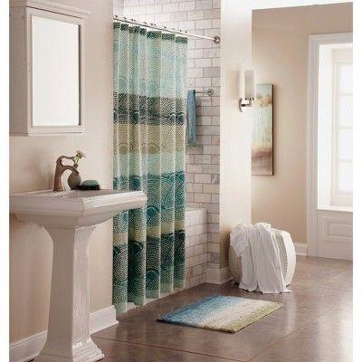 Dot Scallop Shower Curtain Cool