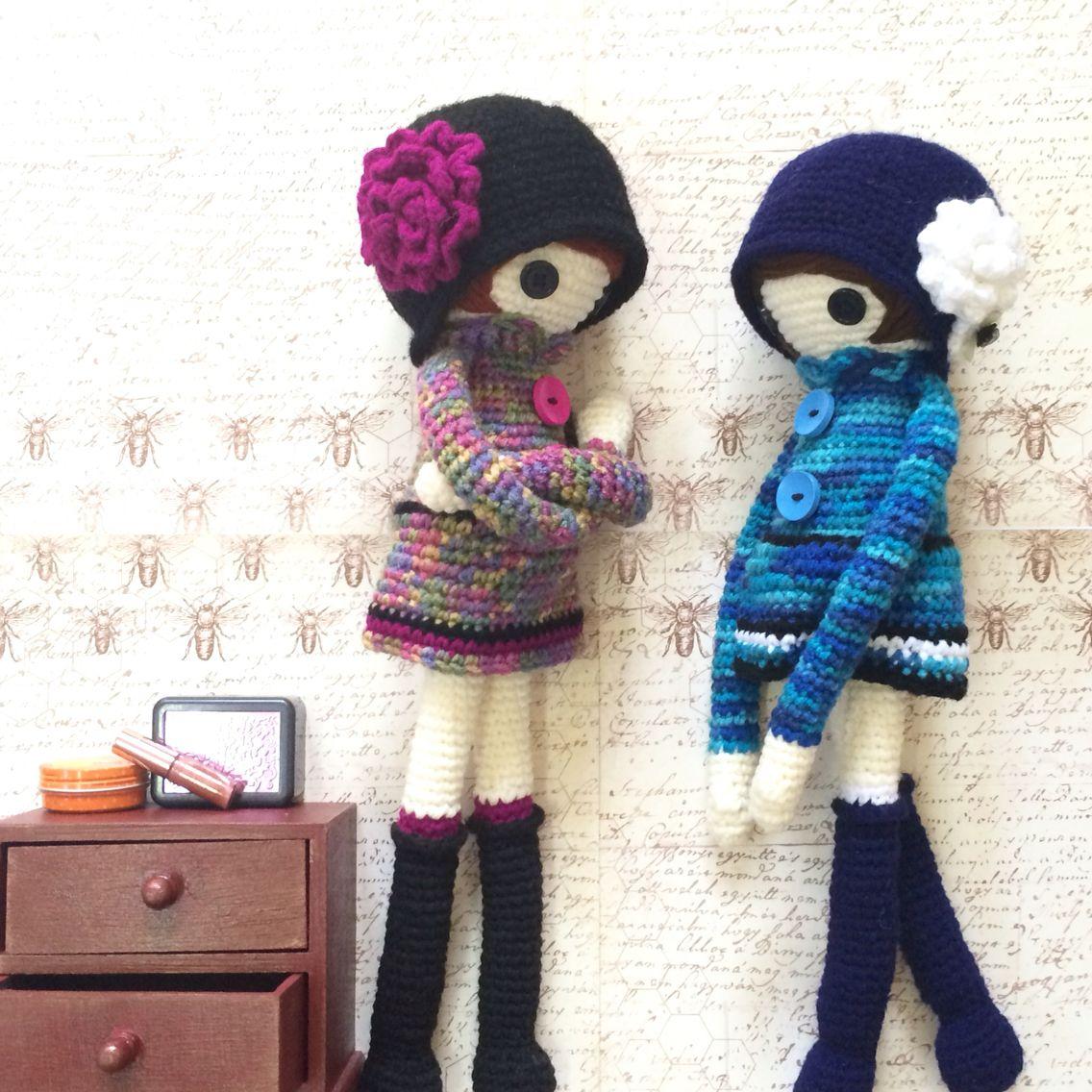 Moderno Patrones De Crochet La Muñeca De La Vendimia Ilustración ...