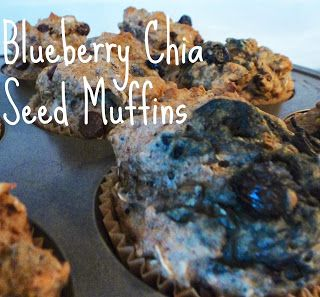 My favorite breakfast/pre-workout food, blueberry chia seed muffins!! I'm finally dishing out the recipe so you can enjoy them too