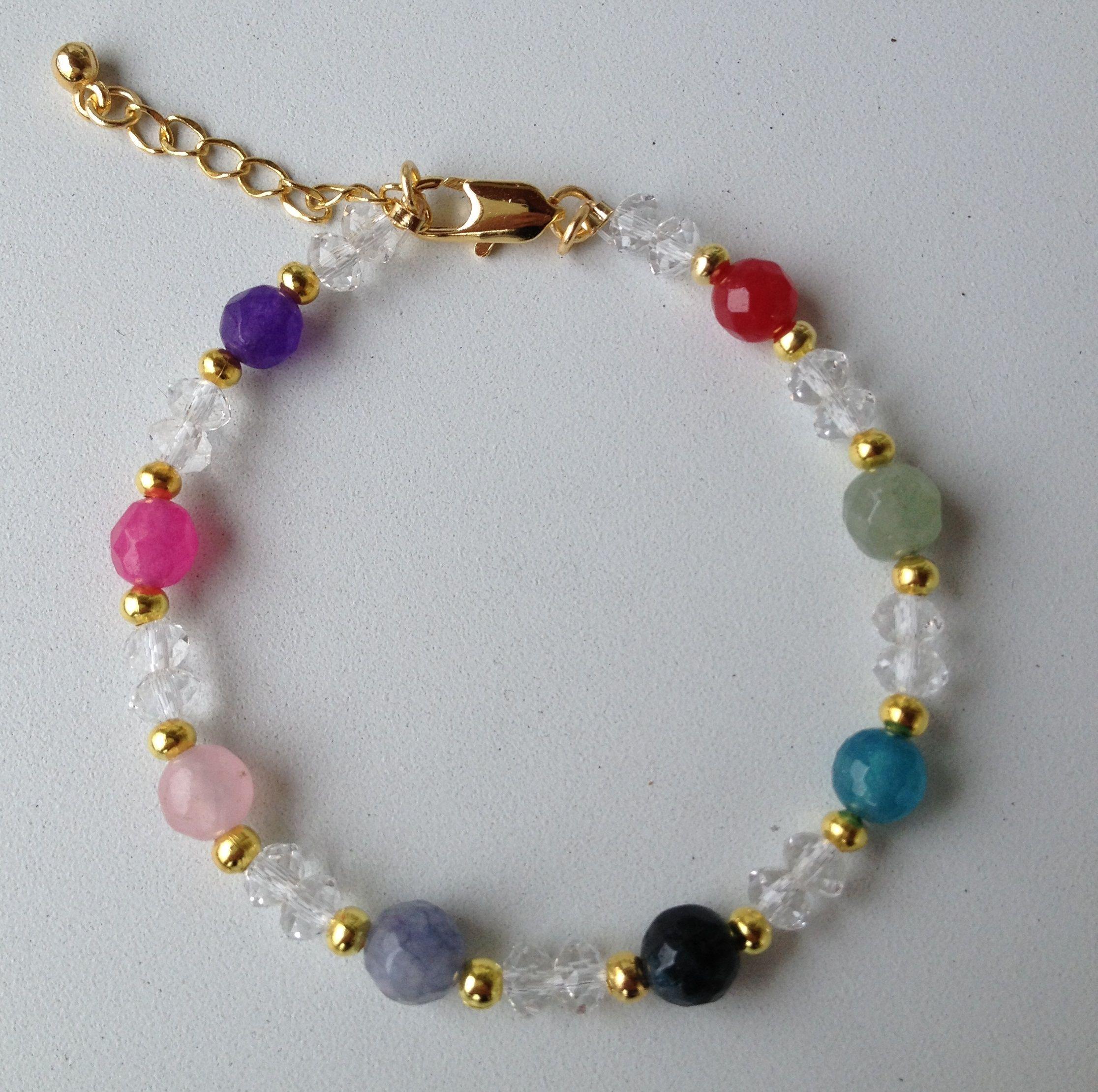31feab3a075e chinese crystal and colorful jade bracelet pulseira de cristal chines e  jade colorida Combinación De Pulseras