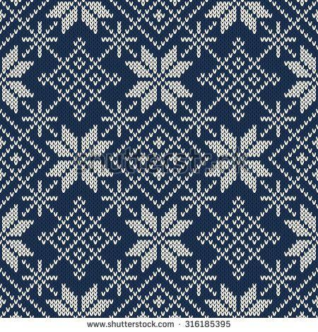 Christmas Sweater Design. Seamless Knitting Pattern   motiv ...