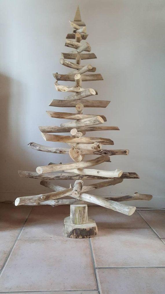 Sapin de noël bois flotté n2,arbre de noël,décoration noël