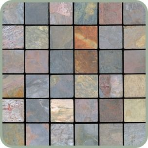 X Multi Color Slate Tile Sqft Marble And Slate Tile - 4 inch slate tile