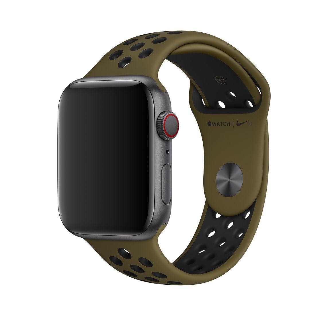 40mm Olive Flak/Black Nike Sport Band S/M & M/L Apple