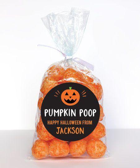 Pumpkin Poop Stickers Halloween Favor Stickers Sheet of 12 or 24