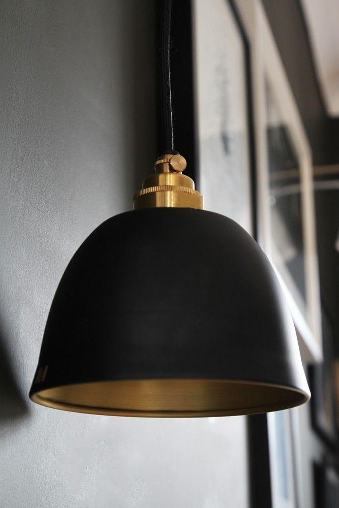Miniture bell brushed brass dusky matte black ceiling light from rockett st george