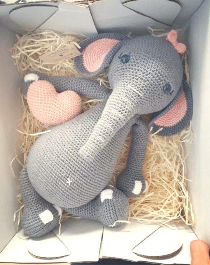 Amigurumi Elephant Pattern #crochetelephantpattern Amigurumi Elephant Pattern  #amigurumi #love #crochet #crochetelephantpattern
