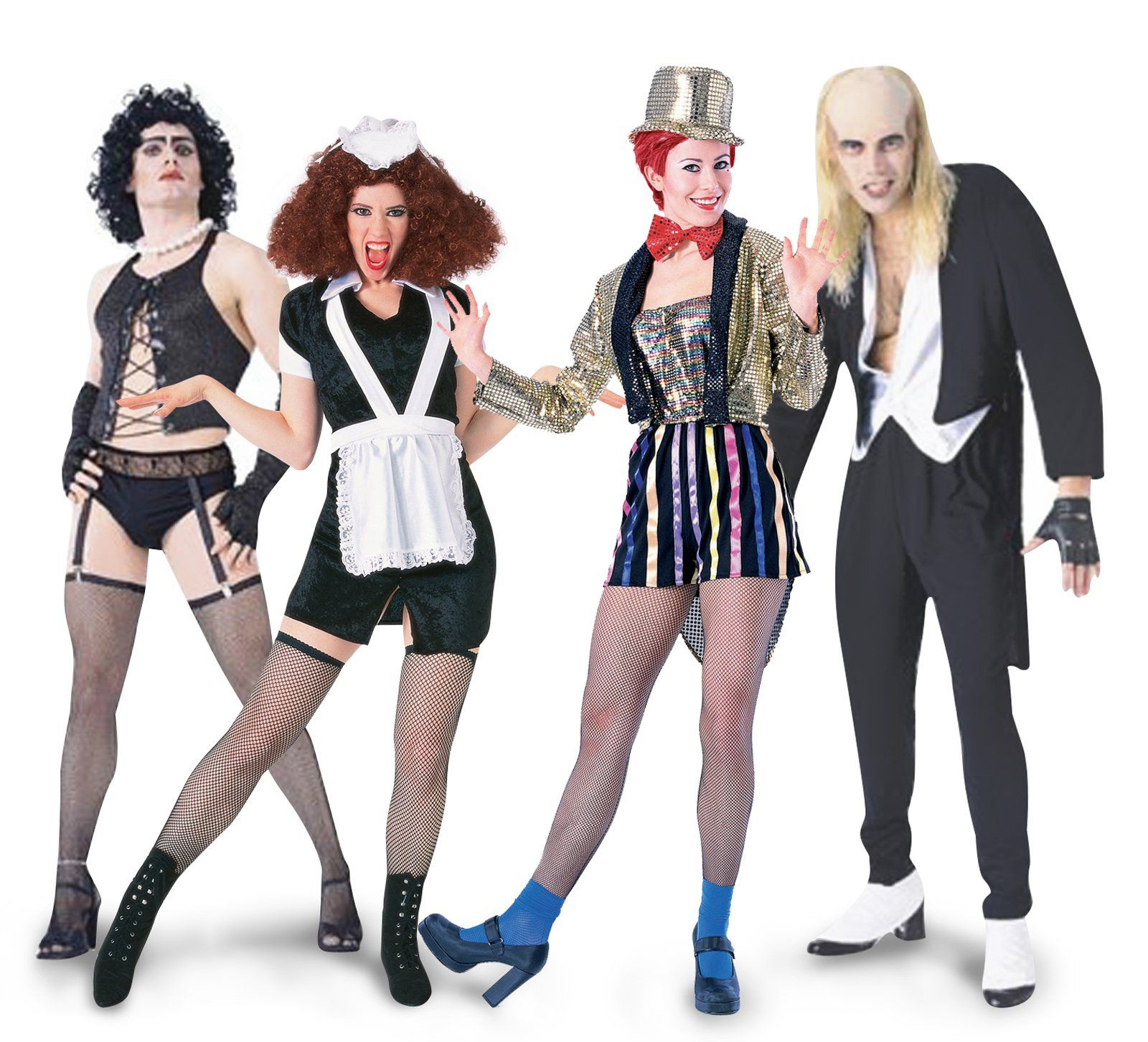 The Rocky Horror Picture Show Group Costumes Rocky Horror Costumes Horror Costume Rocky Horror Picture Show Costume