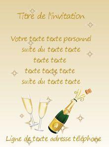 Cartes Gratuites Invitation Pot Depart En Retraite Champagne