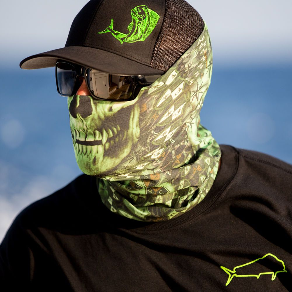 Salt armour stealthtech verduous skull face shield fishing for Sa fishing face shield