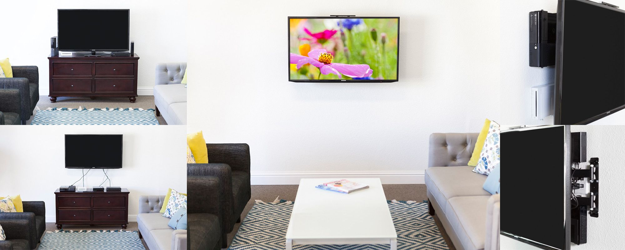 Modern Hiding Wires On A Wall Mounted Tv Ornament - Schematic ...