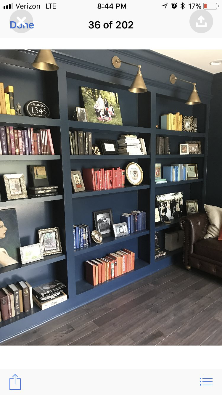 Lights Above Bookshelves With Images