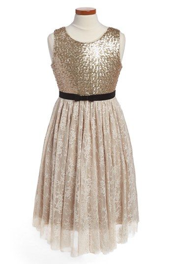 BLUSH by Us Angels Sequin Dress (Little Girls & Big Girls ...