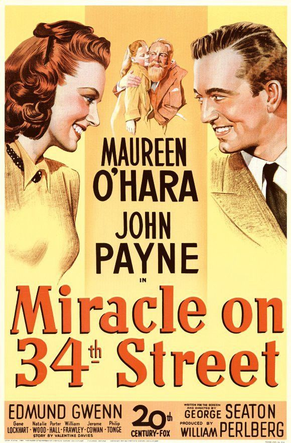 Miracle On 34th Street 11x17 Movie Poster 1947 Cartazes De