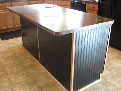 Kitchen Island Makeover Ideas fake-it frugal: kitchen island makeover using beadboard wallpaper