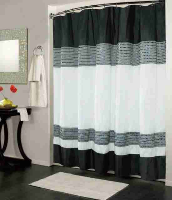 Black And White Shower Curtain Uk Black White Shower Curtain