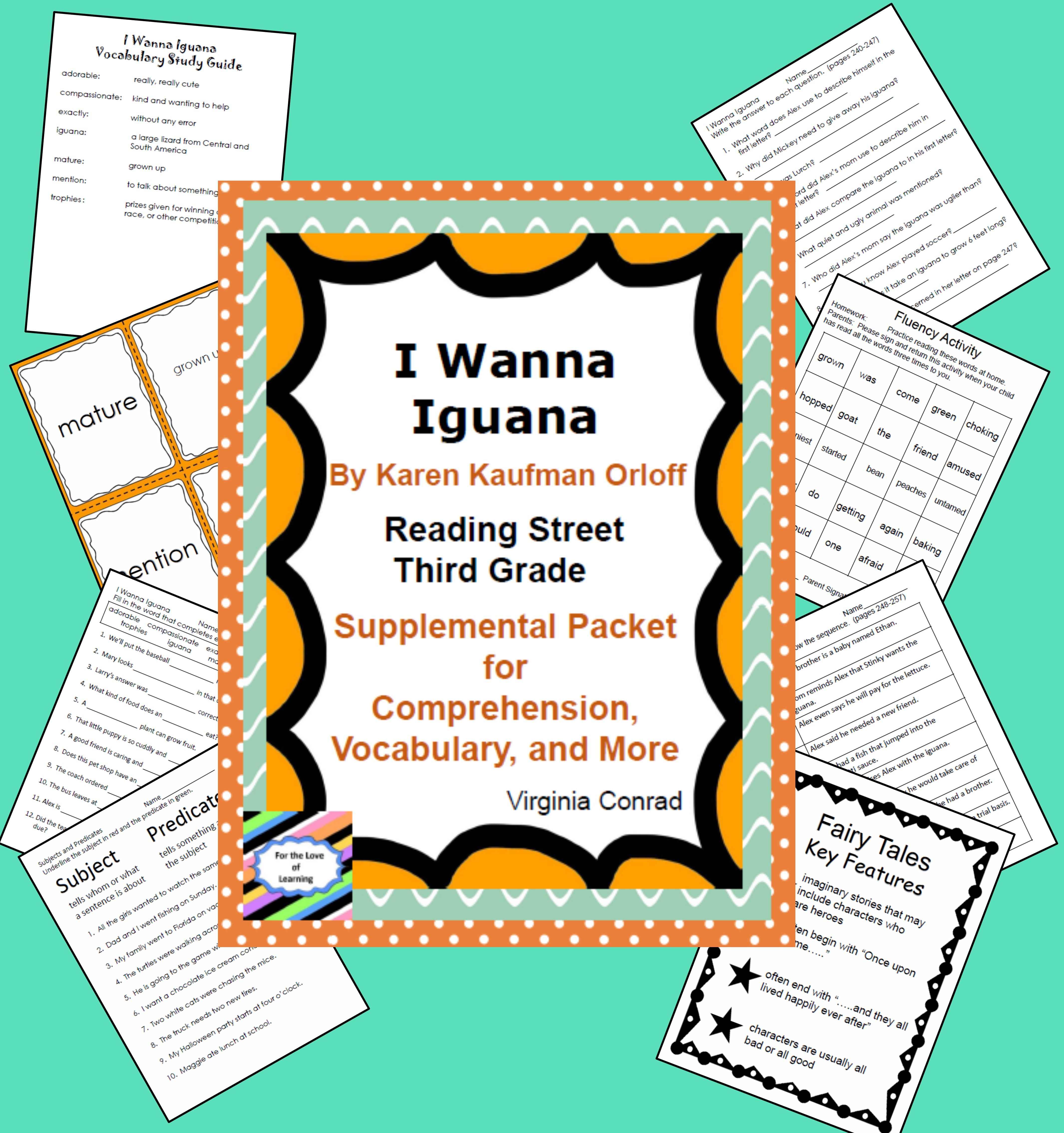 I Wanna Iguana Reading Street Supplemental Packet