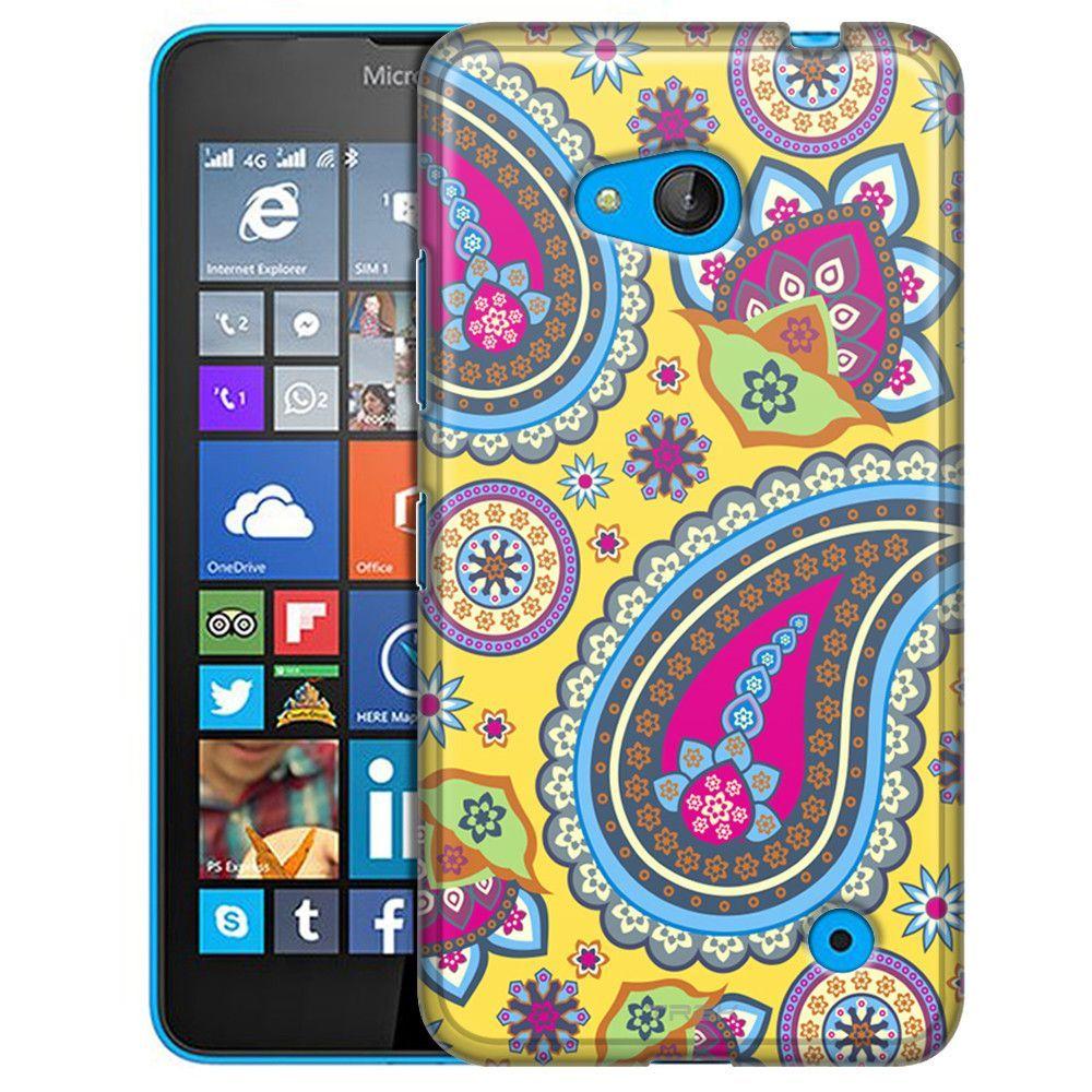 Nokia Lumia 640 Fun Paisleys on Yellow Slim Case
