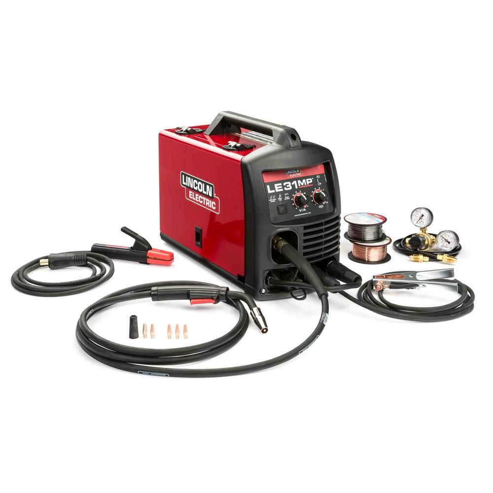 Lincoln Electric 140 Amp Le31mp Multi Process Stick Mig Tig Welder Image 50 Plug Wiring Download With Magnum Pro 100l Gun And Flux Cored Wire Single Phase 120v