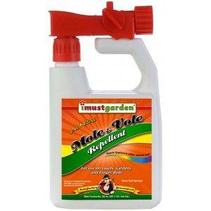 Mole & Vole Repellent 32oz Hose End Sprayer | Repellent ...