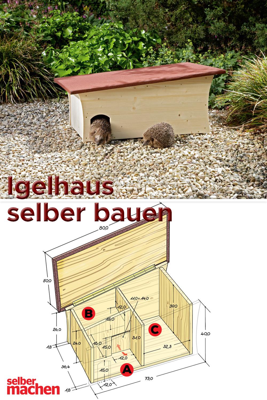 Igelhaus selber bauen mit Gratis-Bauplan!