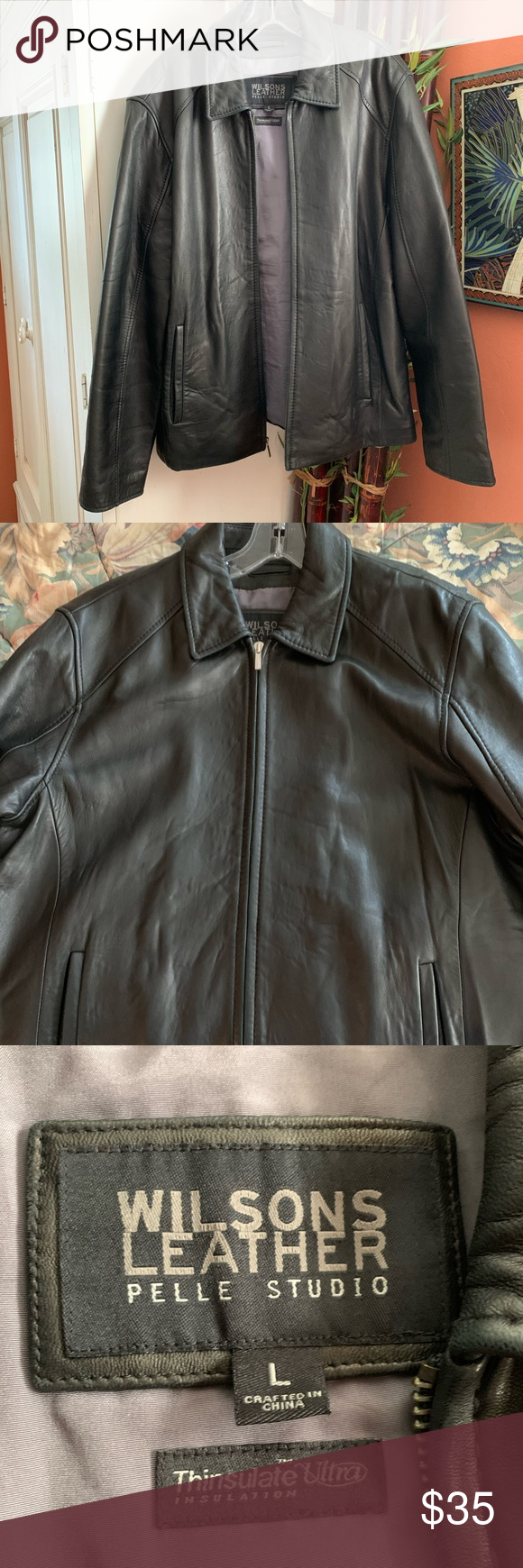 Wilsons leather Pelle studio men's leather jacket