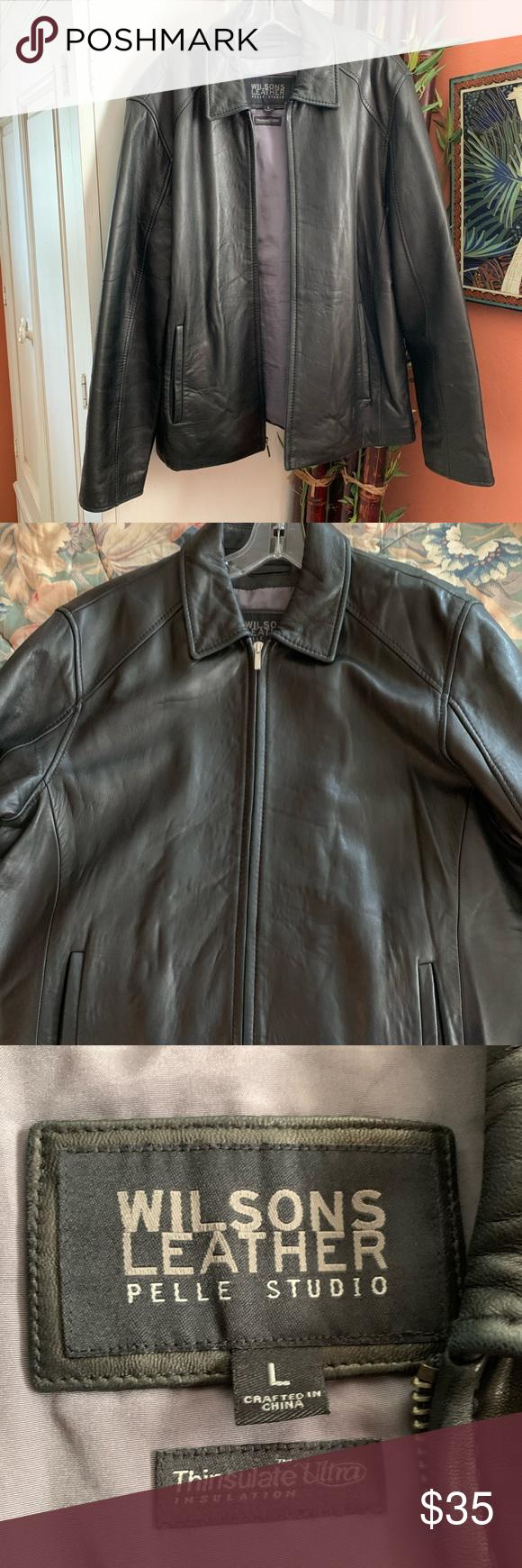 Wilsons leather Pelle studio men's leather jacket