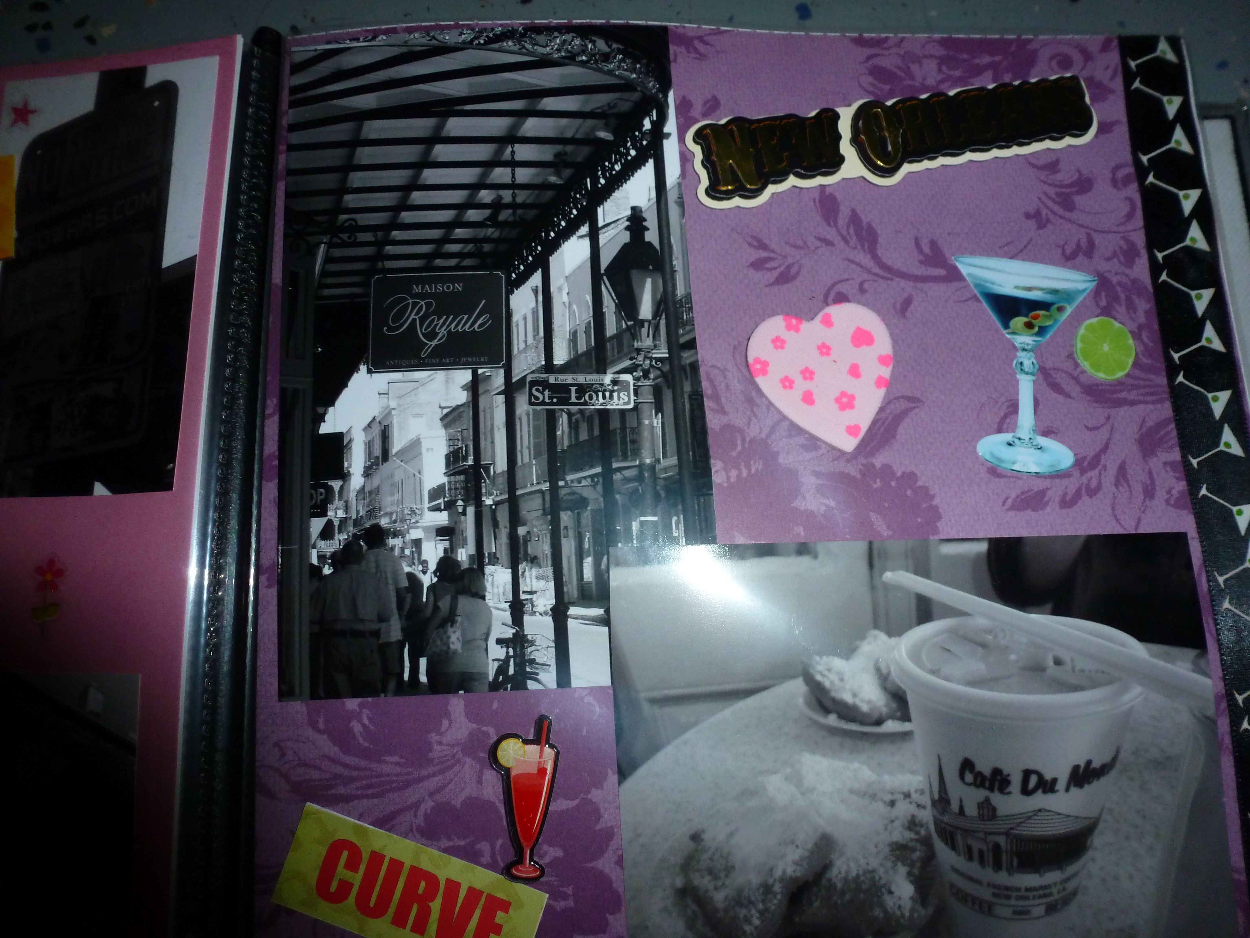 How to scrapbook 8x8 layouts - New Orleans Scrapbook Layout 8x8