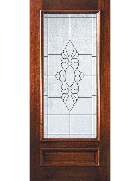 D08382 Mahogany Entry Single Door 3 4 Lite Low E Sabine Glass 2 6 X Single Doors Entry Doors Glass
