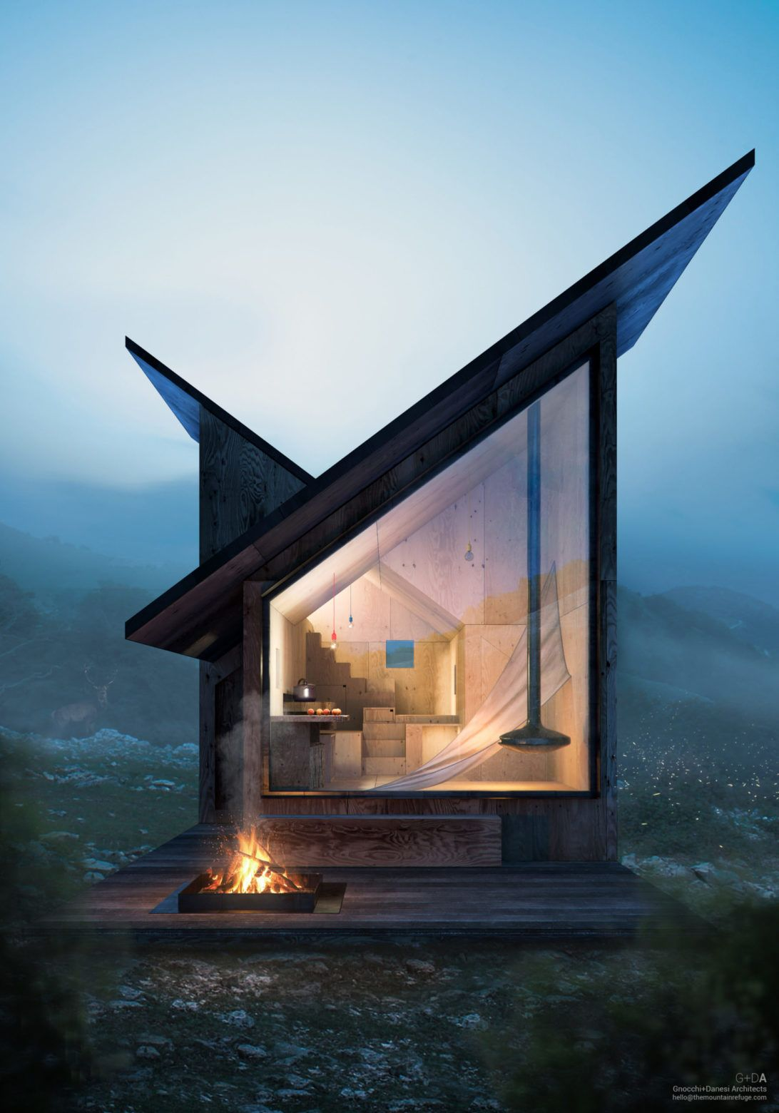 Living Off Grid Wild At Heart In The Mountain Refuge In 2020 Minimalist House Design Duplex House Design Contemporary House Design