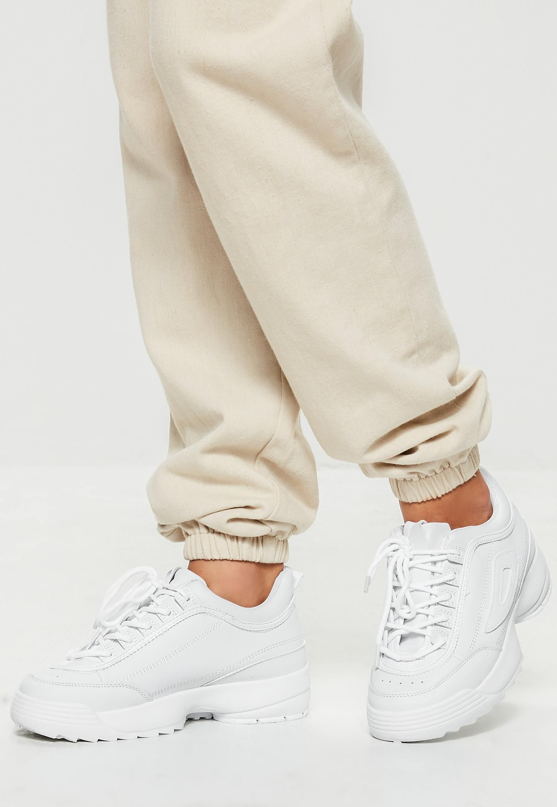 cheaper 26924 9391a White Chunky Sole Minimal Sneakers   Missguided White Sneakers Outfit, Shoes  With Jeans, Shoes