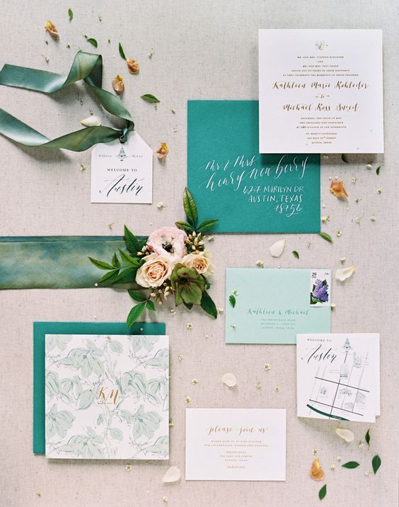 Shade Of Blue Wedding Invitations Rustic Chic Spring Pinterest And