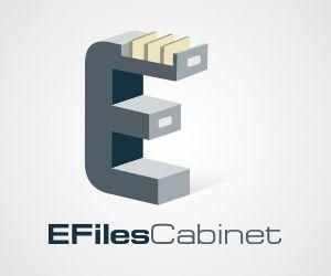 E-Files Cabinet Logo Design gefunden auf www.designrshub.com gepinned von der Hamburger Werbeagentur www.BlickeDeeler.de