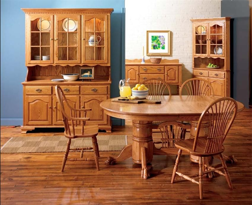 Brookville Four Door Buffet Hutch By Keystone Amish FurnitureDining